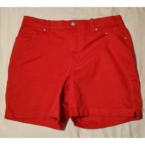 Gloria Vanderbilt Amanda red jean shorts